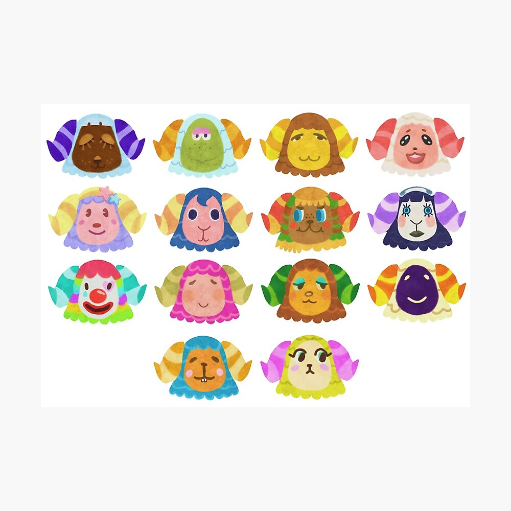 Animal Crossing Sheep Villagers Greeting Card By Meme Bubble