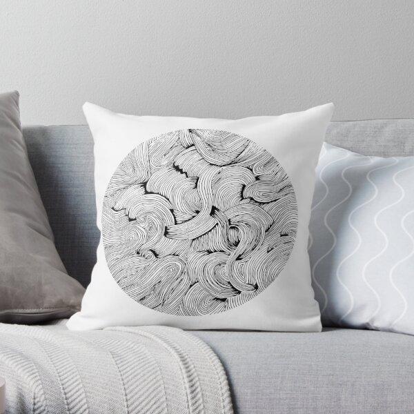 Crazy shapes Throw Pillow