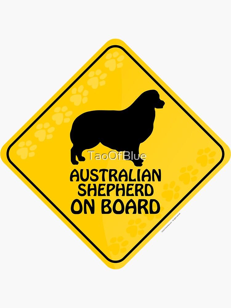 Australian Shepherd On Board by TaoOfBlue