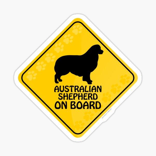Australian Shepherd On Board Sticker