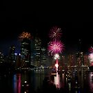 Brisbane City Fireworks by Stephen Monro