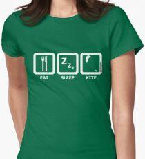 Eat Sleep Kite Womens Fitted T-Shirt