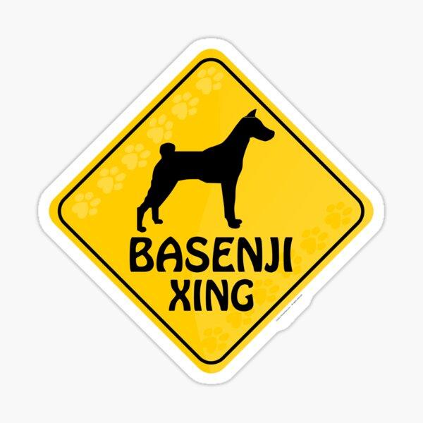 Basenji Xing Sticker