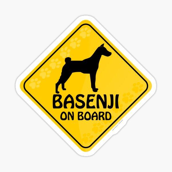Basenji On Board Sticker
