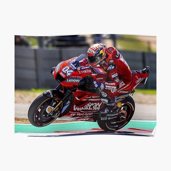 Andrea Dovizioso accélère fort et fait un wheelie Poster