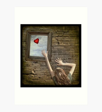 Lonely heart Kunstdruck