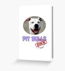 Pit Bulls Rock Greeting Card