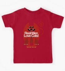 REAL MEN LOVE CATS Kids Tee