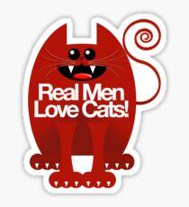 REAL MEN LOVE CATS Sticker
