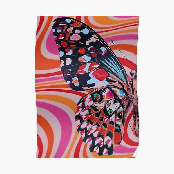 1/2 trippy butterfly poster Poster