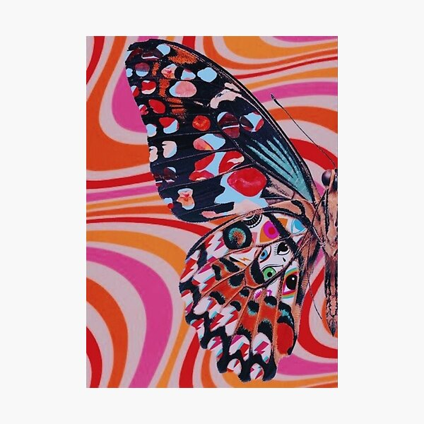 1/2 trippy butterfly poster Photographic Print