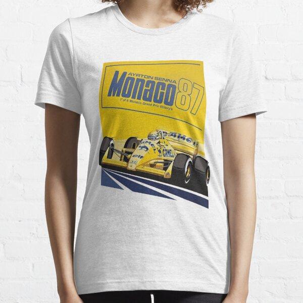 Monaco 87 Senna Camel Lotus Essential T-Shirt