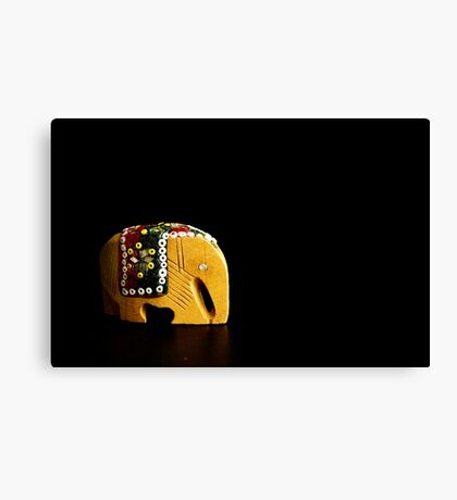 Wood Elephant Canvas Print