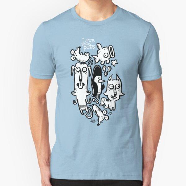 Katze Slim Fit T-Shirt