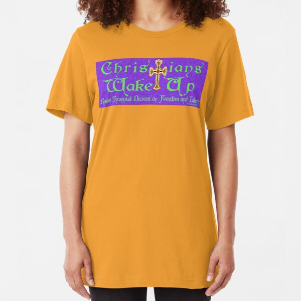 Easter Message Slim Fit T-Shirt