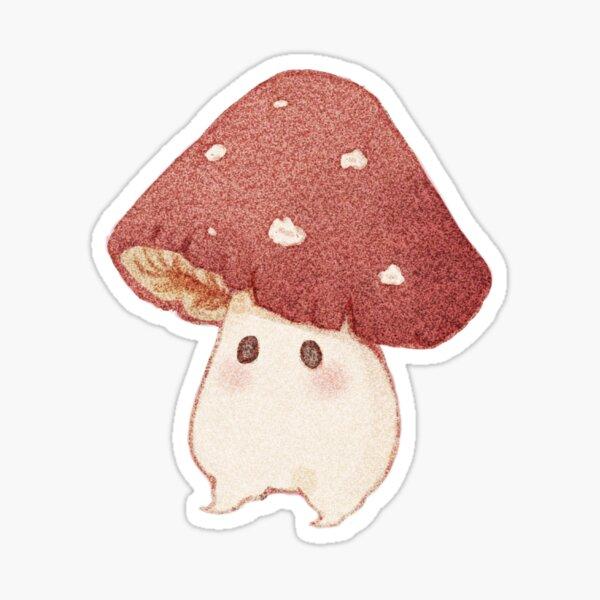 cute red mushroom waterproof sticker