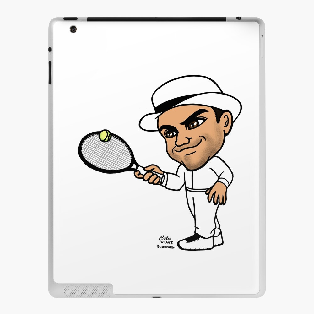 Roger Federer Volley Wall Ipad Case Skin By Colacatlee Redbubble