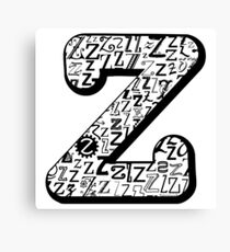 The Letter Z, white background Canvas Print
