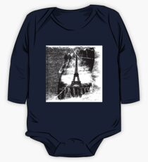 Vintage Eiffel Tower Paris #1 T-shirt One Piece - Long Sleeve