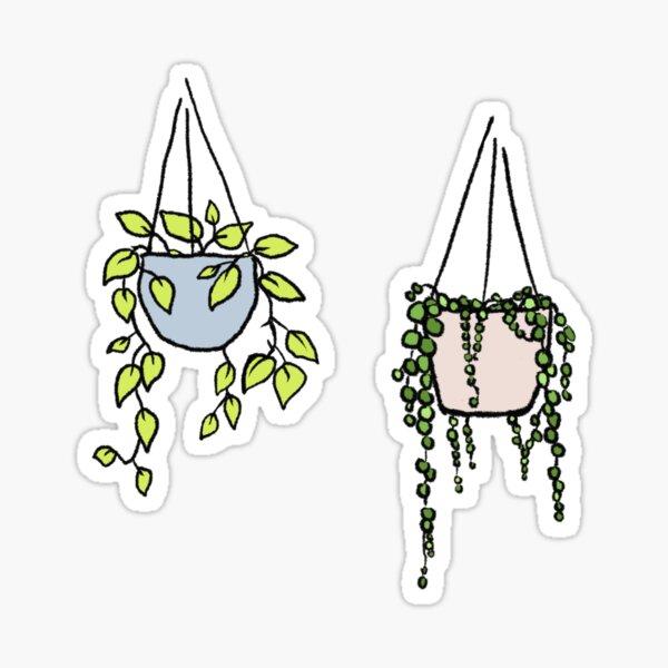 Hanging plants bundle Sticker