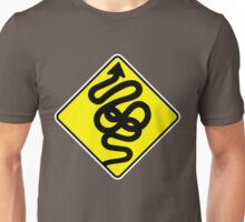 Crazy Road Sign Unisex T-Shirt