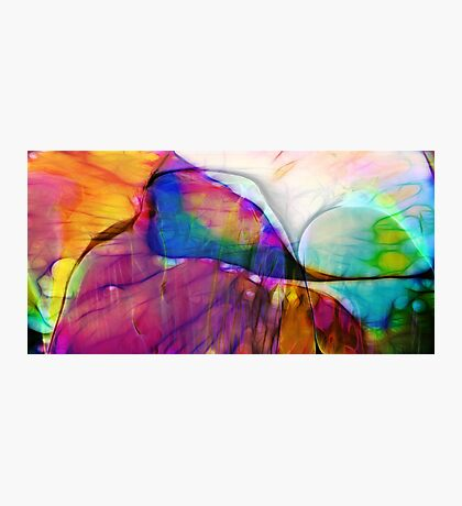 Coloured Abstract Photographic Print