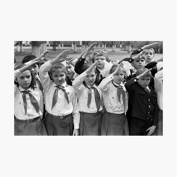 Дети в пионерском лагере СССР - Children in the Pioneer Camp, USSR Photographic Print