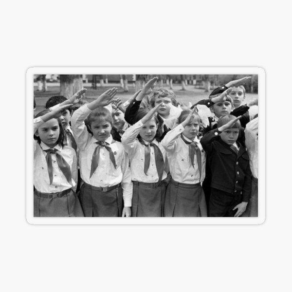 Дети в пионерском лагере СССР - Children in the Pioneer Camp, USSR Transparent Sticker