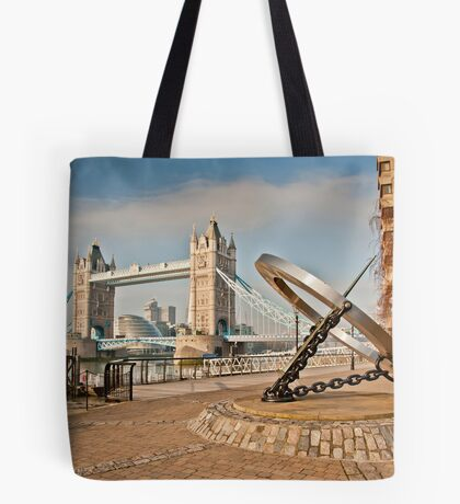 Sundial at Tower Bridge: London Tote Bag