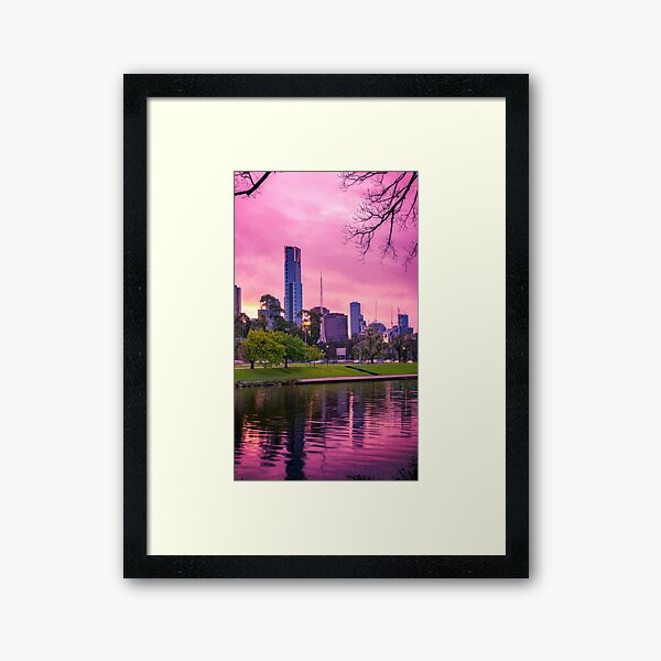 Melbourne City Pretty in Pink Framed Art Print