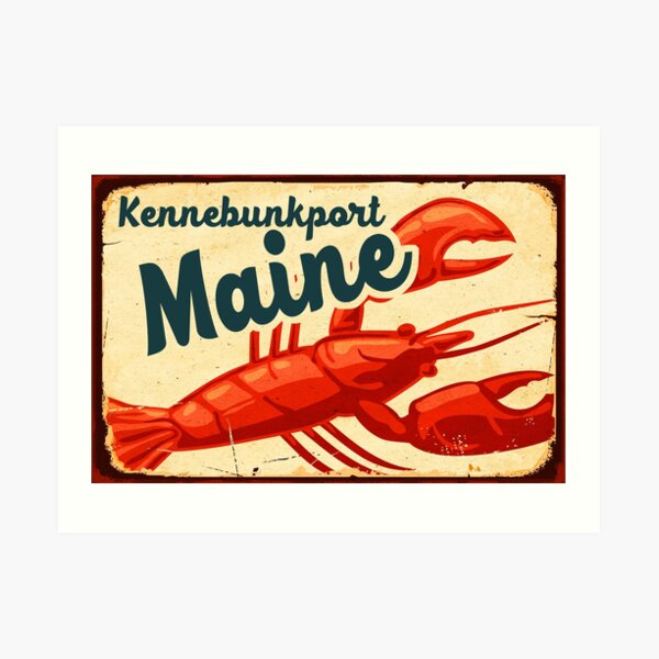 Kennebunkport Maine Lobster New England Acadia National Park Art Print