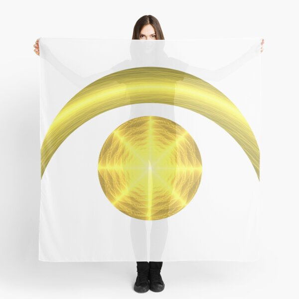 Sun and Crescent Moon   Enlightened Eye 2 Scarf