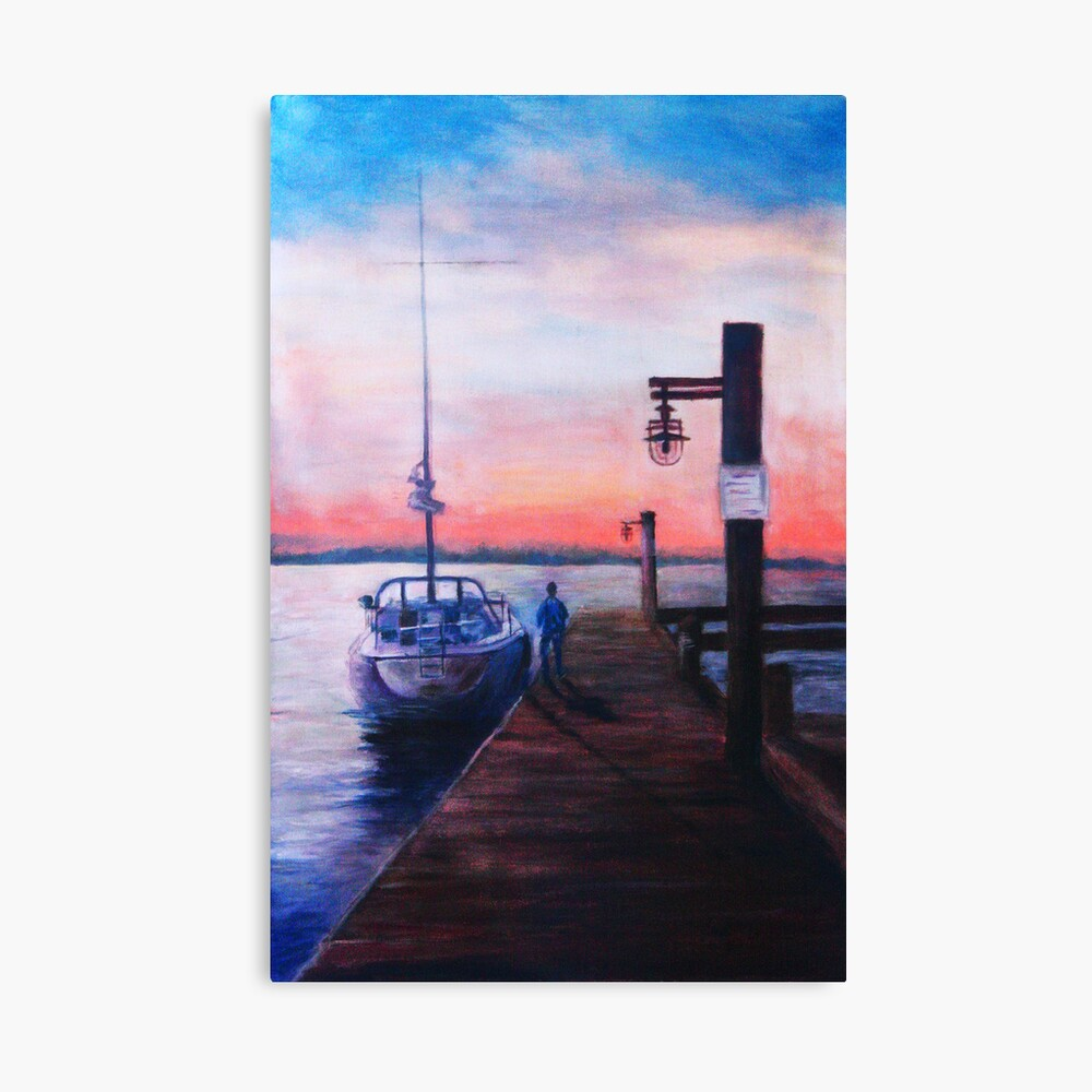 Sunset at Rocky Point Canvas Print