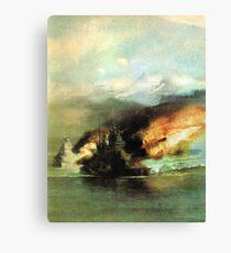 WW2 Sea Battle Canvas Print