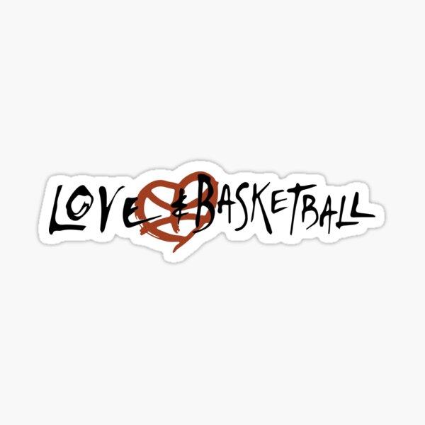 Love and Baskbetball Sticker