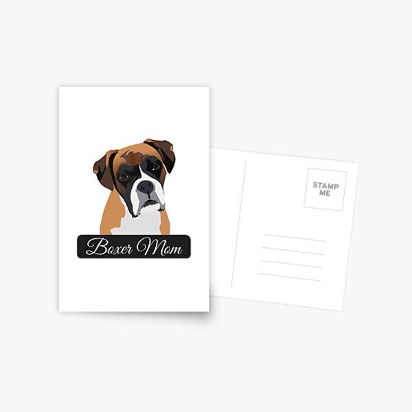Boxer Mom Postcard