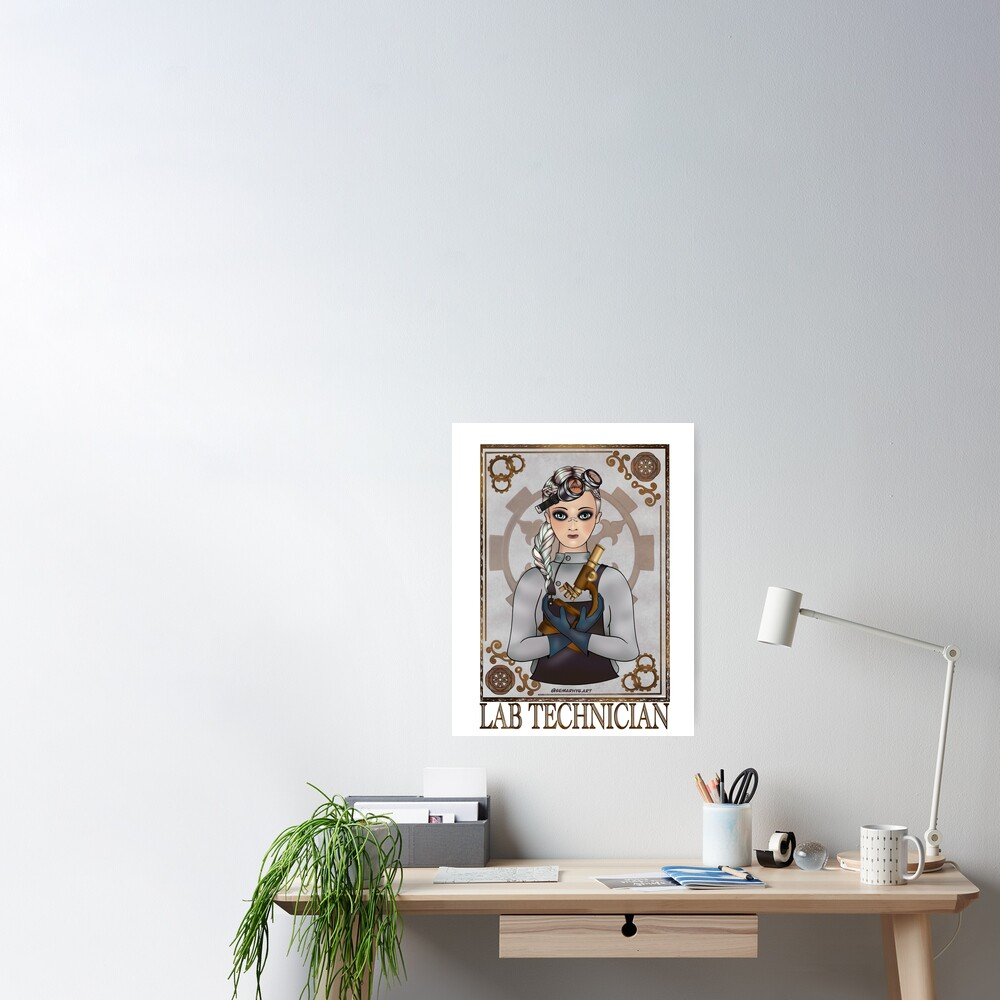 Lab Tech (SteamPunk Art) Poster