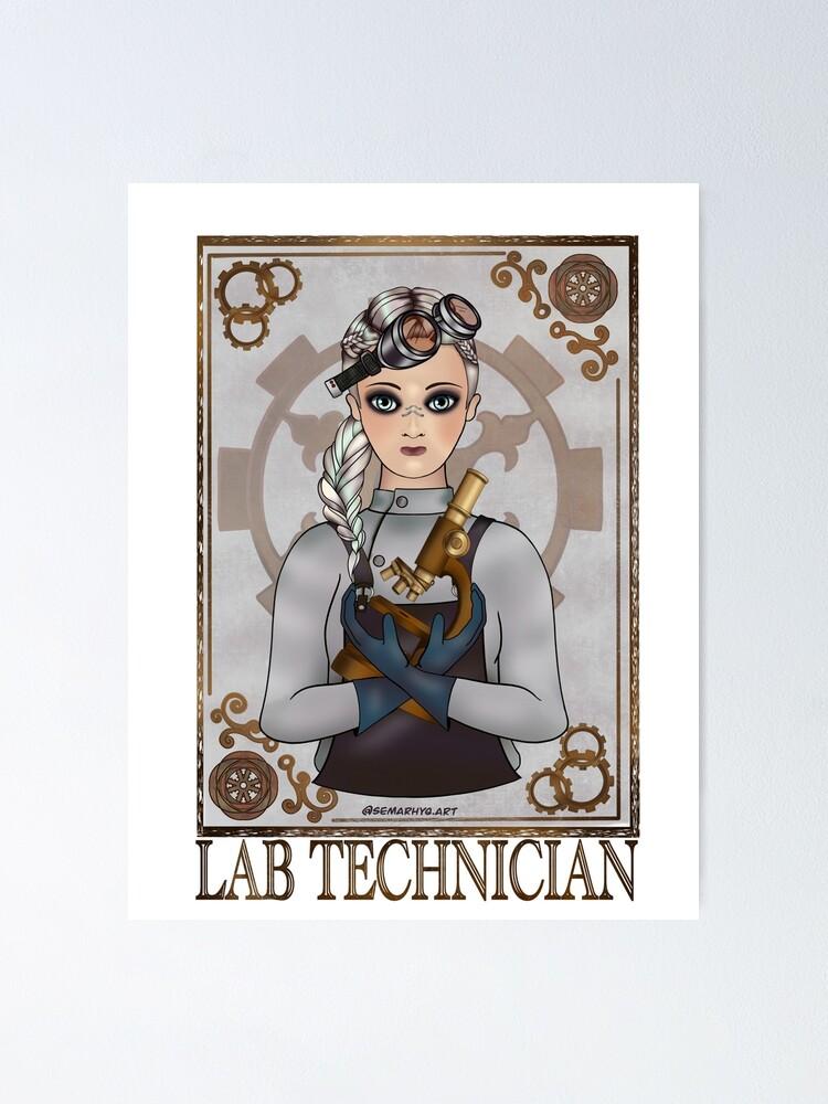 Alternate view of Lab Tech (SteamPunk Art) Poster