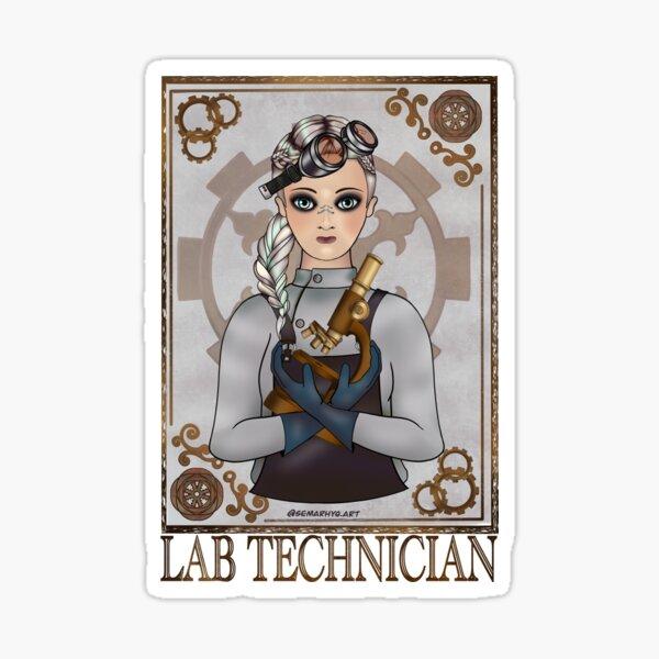 Lab Tech (SteamPunk Art) Sticker