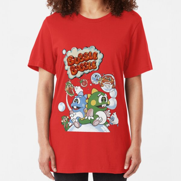 BUBBLE BOBBLE T-SHIRT COOL JAPANESE POSTER UNISEX COOL FUNNY GAMER ANIME GIFT