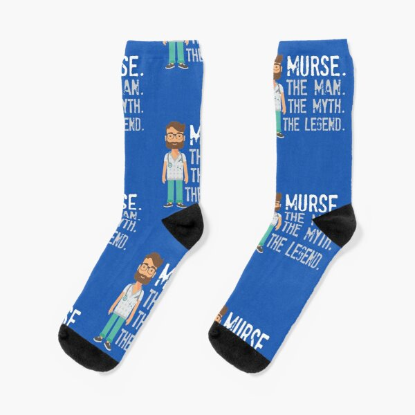 Murse, The Man The Myth The Legend, Gift For Male Nurse Socks