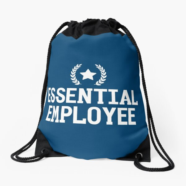 Essential Employee Meme Drawstring Bags | Redbubble