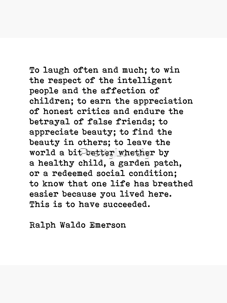 To Laugh Often And Much, Success, Ralph Waldo Emerson Quote by PrettyLovely