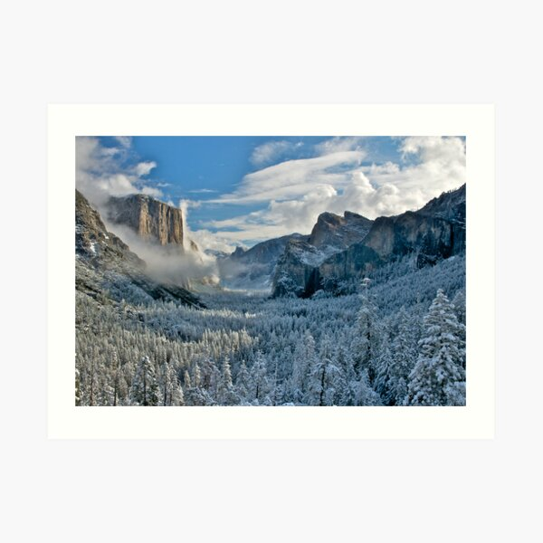 First Snow of the Winter, Yosemite National Park Art Print