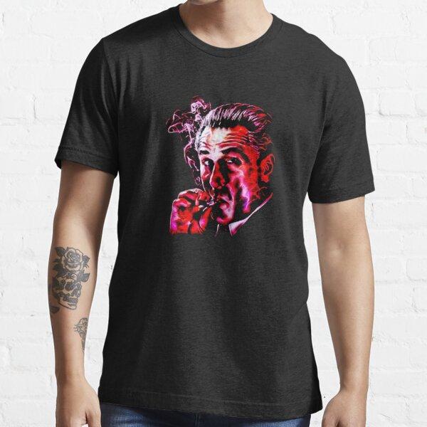Robert De Niro smoking mafia gangster movie Goodfellas painting Essential T-Shirt