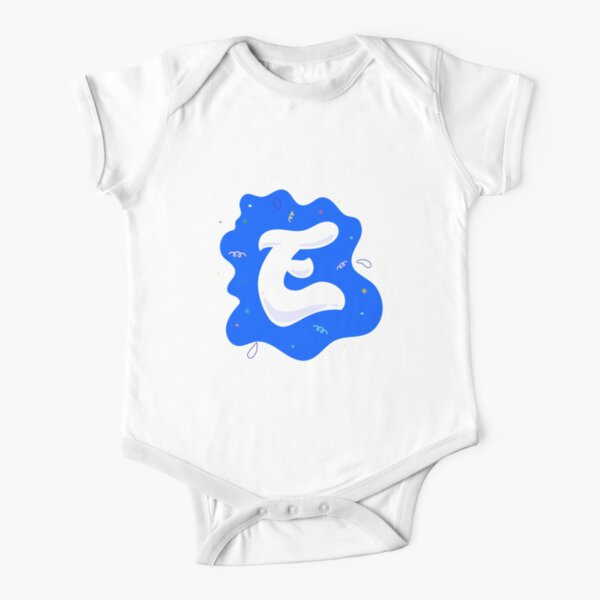Colourful Letter E Short Sleeve Baby One-Piece