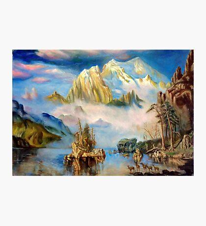 Rocky Mountains after Albert Bierstadt Photographic Print