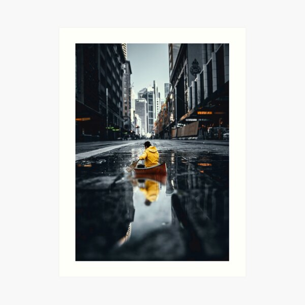 city kajak Art Print