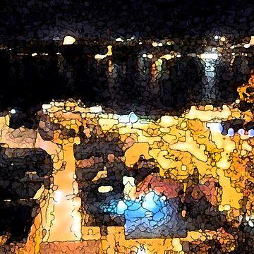 Quebec night view by suemari