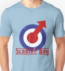 Retro look scooter boy mod target design Slim Fit T-Shirt